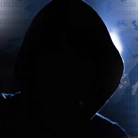 Typical Hacker In Black Hoodie BS